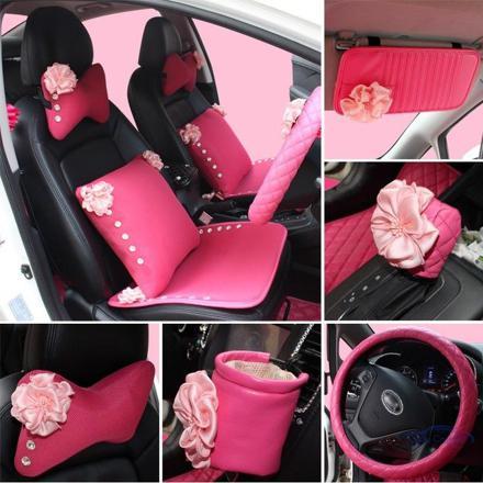 accessoire voiture rose