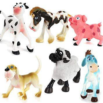 animaux de la ferme plastique