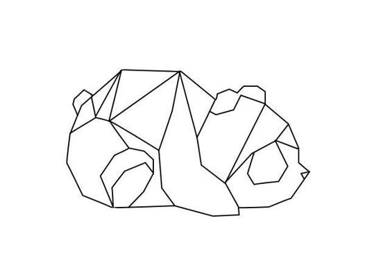 animaux en forme géométrique