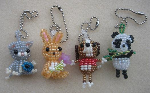 animaux en perles