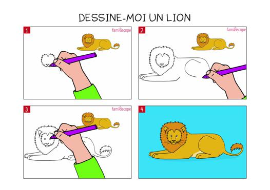 apprendre a dessiner un lion