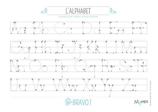 apprendre à écrire les lettres de l alphabet