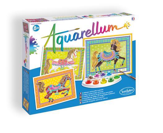 aquarellum chevaux