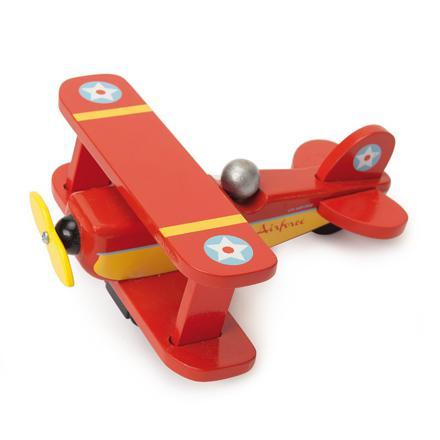 avion en bois jouet