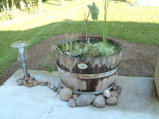bac a eau jardin