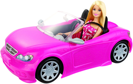 barbie et sa voiture