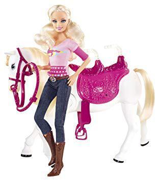 barbie et son cheval trotteur