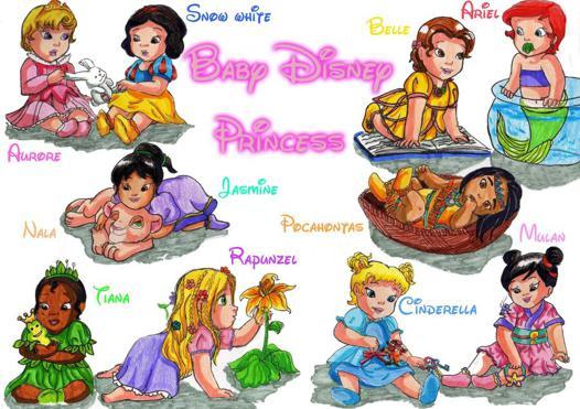 bébé princesse disney