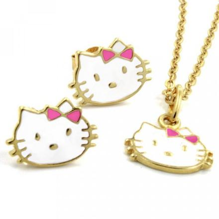 bijoux hello kitty or