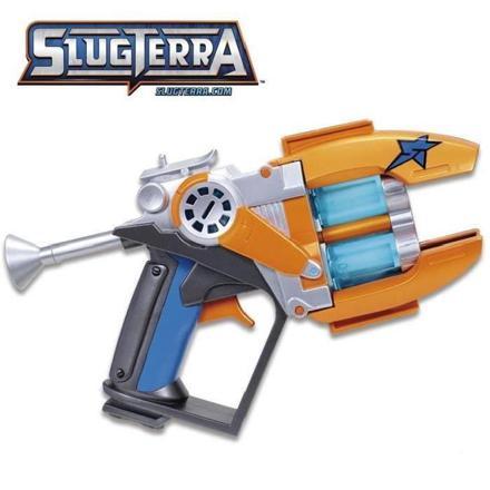 blaster slugterra avec 2 canons et 2 recharges