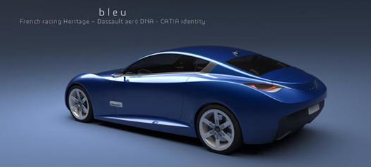 bleu cars