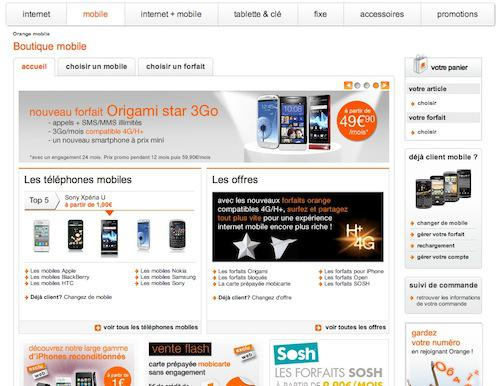 boutique en ligne orange