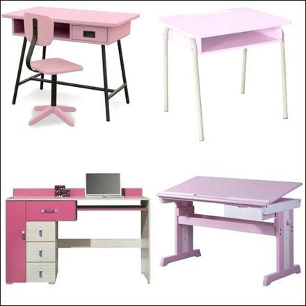 bureau rose fille