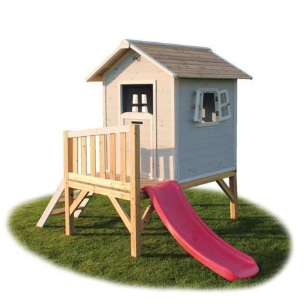 cabane enfant avec toboggan