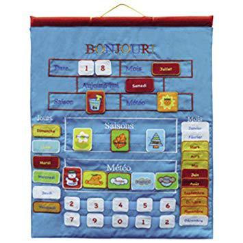 calendrier enfant tissu
