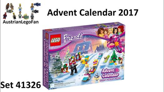 calendrier lego friends 2017