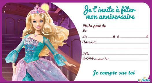 carte anniversaire barbie