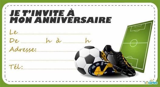carte anniversaire foot