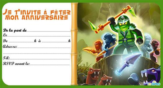 carte anniversaire ninjago