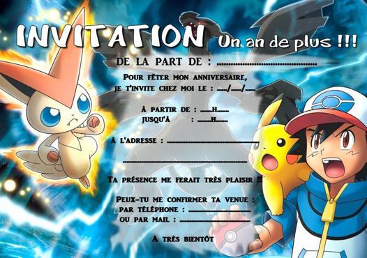 carte anniversaire pokemon