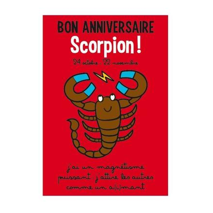 carte anniversaire scorpion