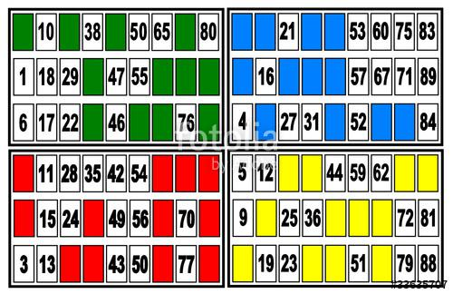 carte de loto bingo