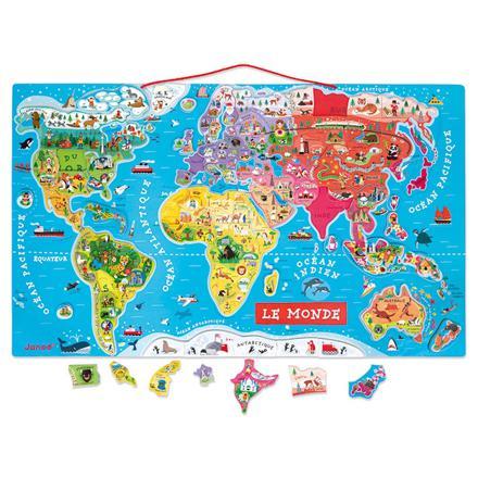 carte du monde magnétique janod
