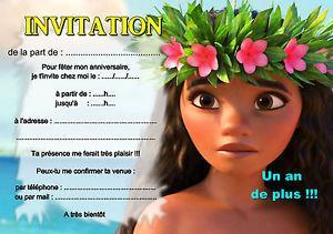 carte invitation vaiana