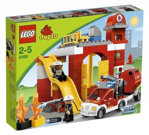 caserne de pompier lego duplo