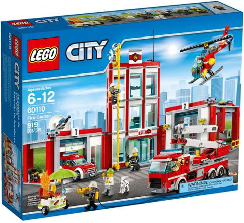 caserne lego city pompier
