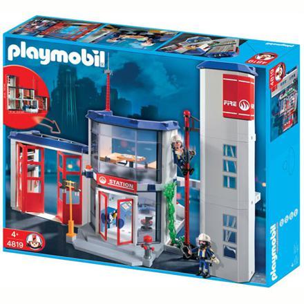 caserne pompier playmobil 4819