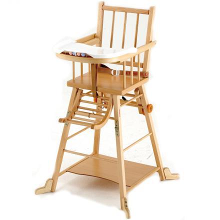 chaise haute en bois pour bébé