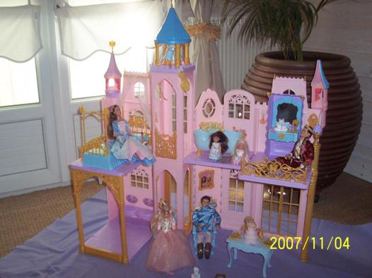 chateau de barbie princesse