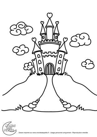 chateau princesse dessin