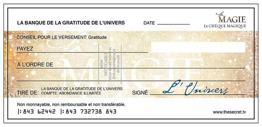 cheque a l univers