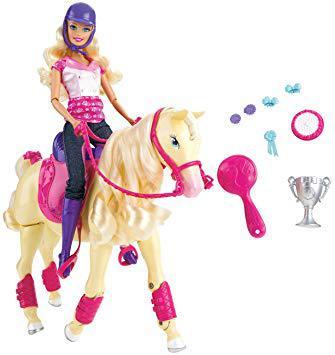 cheval barbie qui marche tout seul
