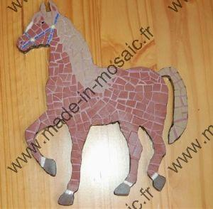 cheval en mosaique
