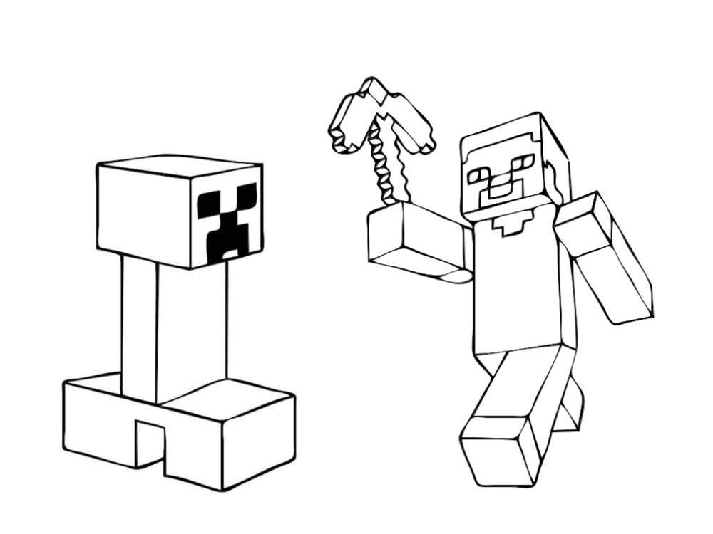 coloriage minecraft