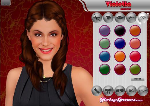 jeu violetta maquillage