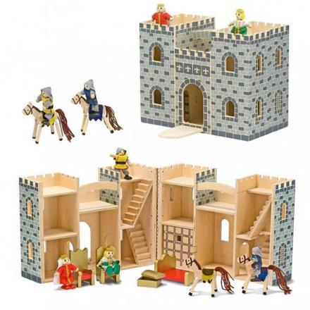jouet chateau fort bois