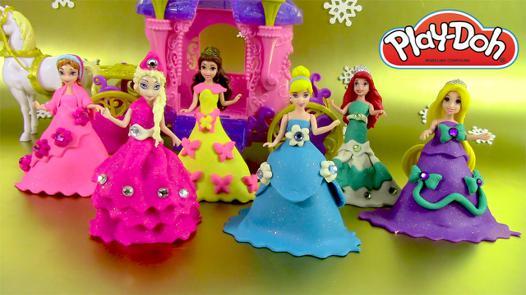 pâte à modeler de princesse