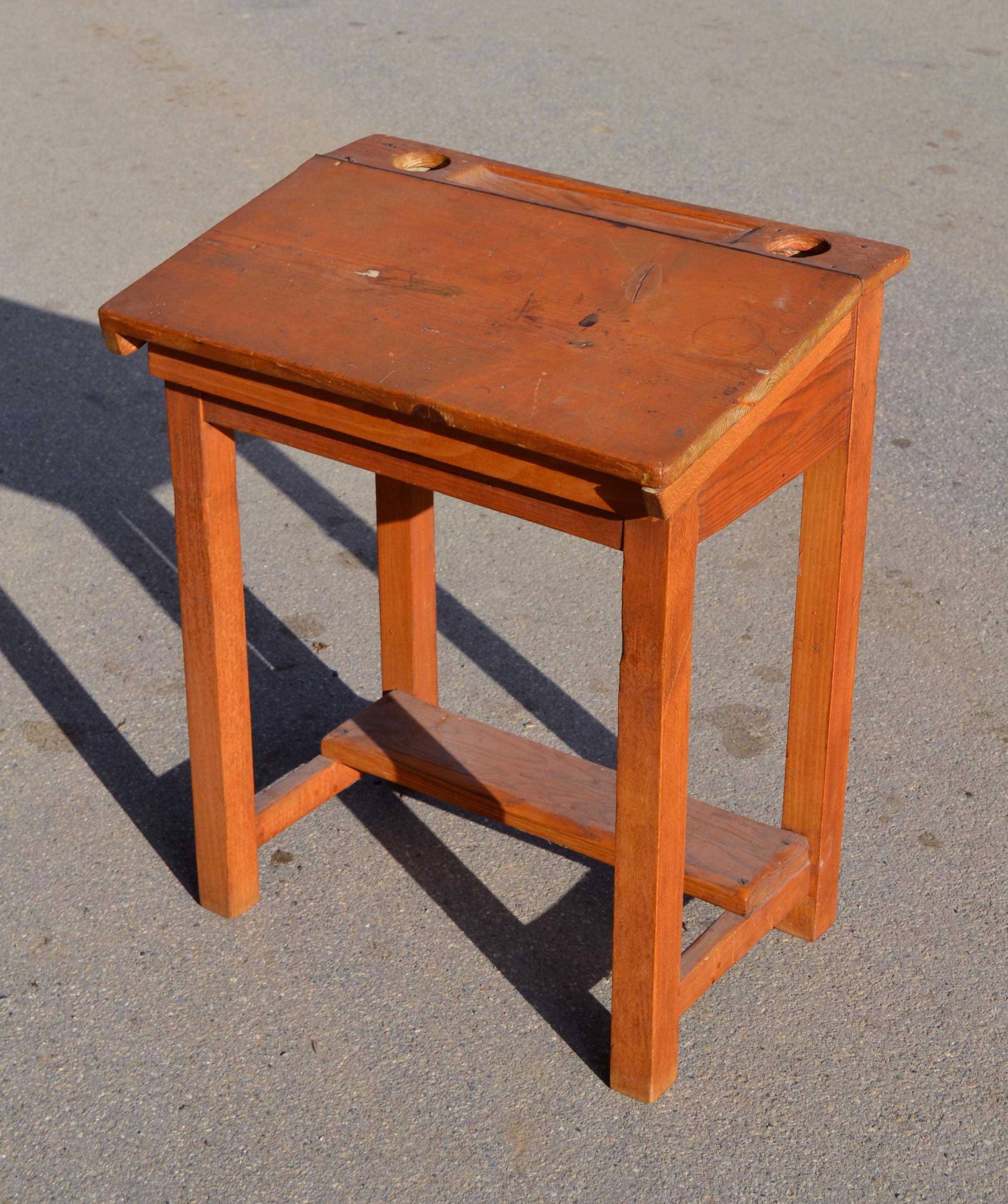 petit bureau ecolier en bois