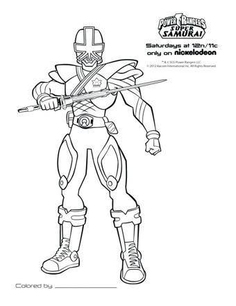 power rangers samurai dessin