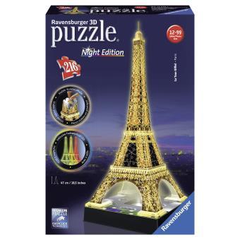 puzzle tour eiffel 3d lumineuse