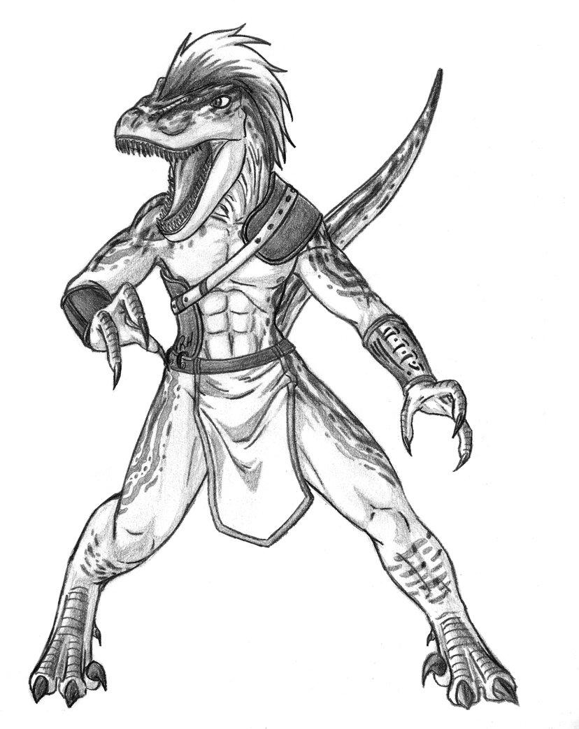 velociraptor man