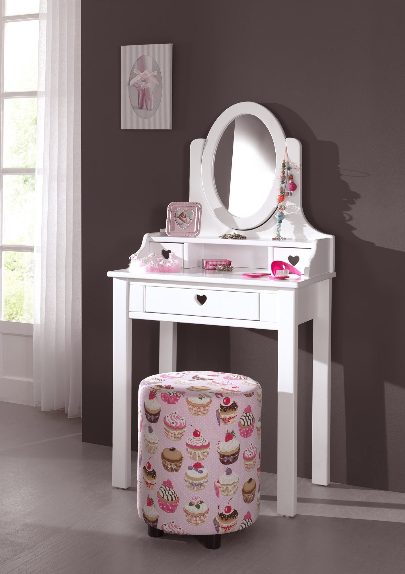 coiffeuse chambre fille