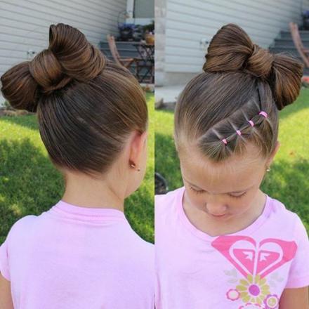 coiffure pour petite fille de 4 ans