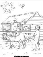 coloriage centre equestre