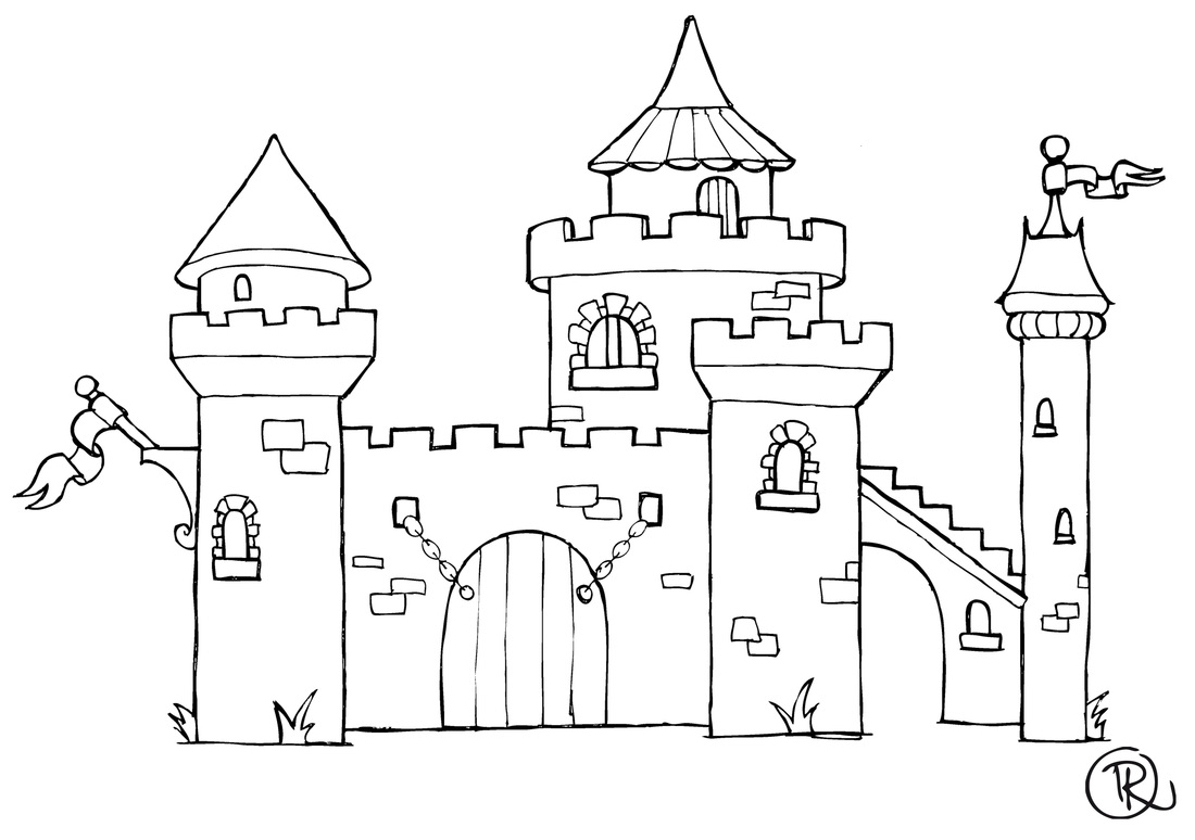 coloriage de chateau fort