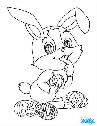 coloriage de lapin en ligne